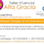 Sábado 9-09 Sumate al Taller Vivencial de Descodificación Biológica en Alta Gracia