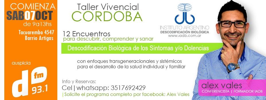 Sábado 7-10 Inicia Taller Vivencial de Descodificación Biológica en Córdoba capital
